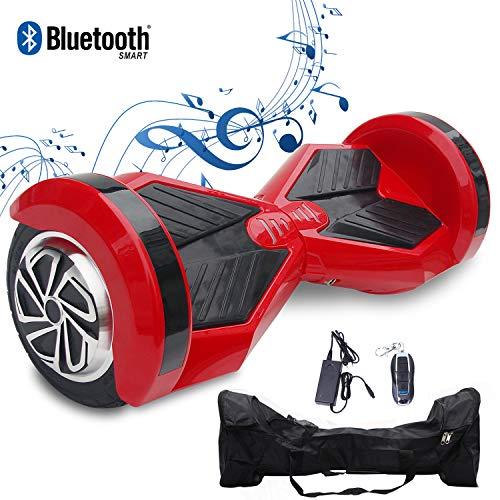 """2WD Hoverboard Scooter Eléctrico 2 Rueda Self Balancing Scooter con Bluetooth Scooter Eléctrico 8""""- 2 * 350W (Rojo Negro)"""