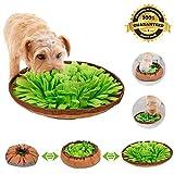 Sunshine smile Dog Snuffle Mat,Cani Feeding Mat,Tappetino per Animali Domestici per Foraggiamento abilità,Tappetino per addestramento Cani per Giochi interattivi,Dog Pet Sniffing Pad (Verde)