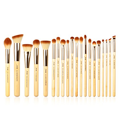Jessup Brand Beauty Make-up Bamboo Set Professional Foundation Blush Brush Concealer Definer Eyelashes Powder 20 Pcs Brush Tool/Kits T145