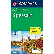 Spessart: Wanderkarten-Set mit Radrouten und Aktiv Guide in der Schutzhülle. GPS-genau. 1:50000 (KOMPASS-Wanderkarten, Band 832)