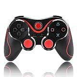 Zmsdt Controlador Inalámbrico Gamepads Joysticks Gamepad Controlador Bluetooth V3.0 Compactable Para PS3 Sensing Controller (Color : Red)