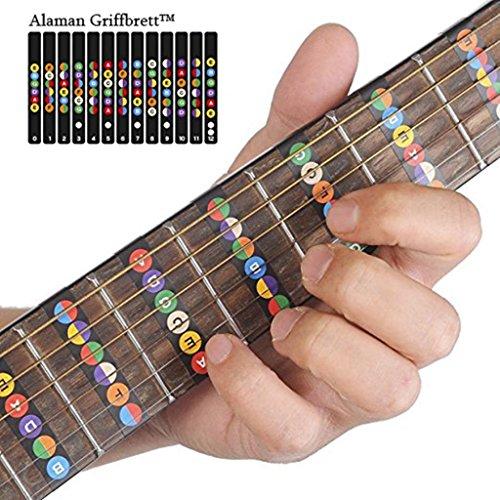 Alaman Griffbrett, Noten Lernen für Anfänger (Gitarren Griffbrett Schwarz)