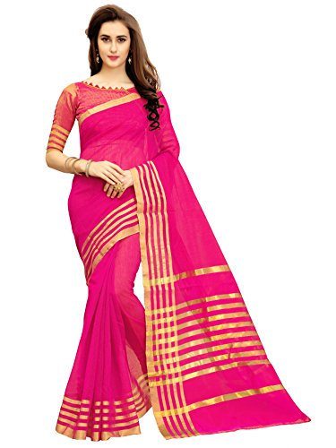 Glory Sarees Silk Saree with Blouse Piece (jari123rani_Free Size)