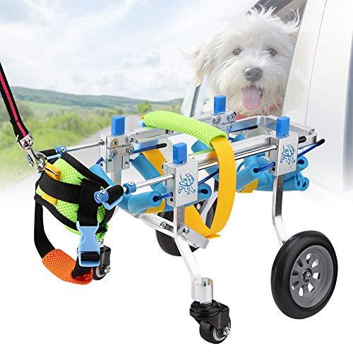 51BYmQqjwPL - Pssopp Silla de Ruedas para Perros, Ajustable Silla de Ruedas para Mascotas 4 Ruedas Carrito para Perros Rehabilitación de Patas Delanteras y traseras para discapacitados Perro pequeño Perrito Gato