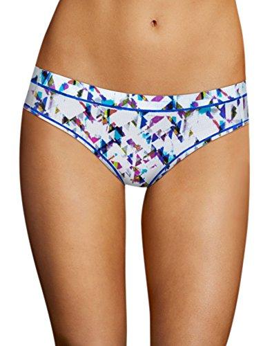 Maidenform Bikini, Culotte de Sport Femme Multi Aztec Print w/ Bozetto Blue
