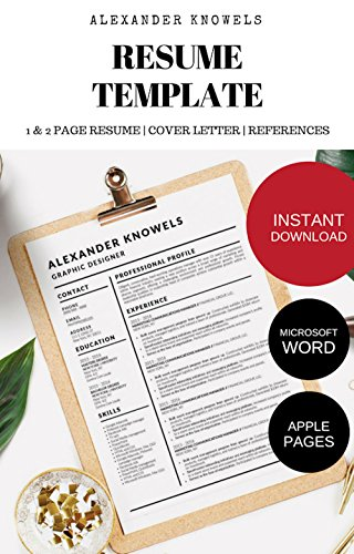 Alexander Knowels Resume CV Template for Microsoft Word and ...