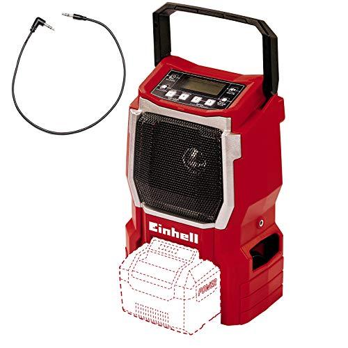 Einhell Akku-Radio TE-CR 18 Li - Solo (18V, 90mm Lautsprecher, 10 Senderspeicherplätze, LCD Display, integrierte Antenne, AUX Anschluss, ohne Akku und Ladegerät)