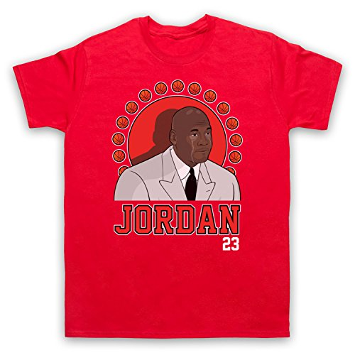 Inspiriert durch Crying Jordan Michael Jordan 23 Basketballer Award Inoffiziell Herren T-Shirt Rot