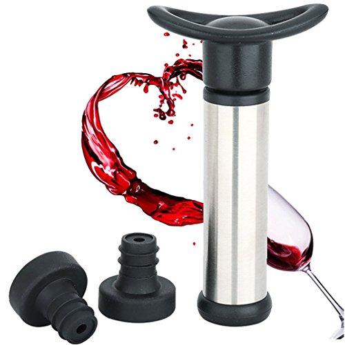 Smaier Weinpumpe Vakuum Weinverschluss mit 2 x Stopfen