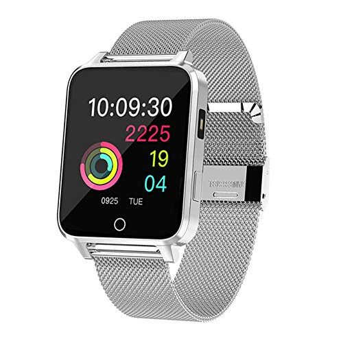 Qimaoo Smartwatch, Reloj Inteligente Hombre Mujer IP68 Impermeable Reloj Smart Watch con Pulsómetro, Monitor de Calorías, Múltiples Modos de Deportes, GPS Podómetro, Fitness Tracker para iOS Android