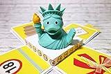 Geldgeschenk Geschenkverpackung zum 18. Geburtstag Explosionsbox mit Badeente Quietscheente Liberty Geschenkverpackung Gutscheinverpackung Gutschein Gutscheinbox Geschenkbox