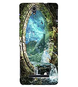ColourCraft Heaven Design Back Case Cover for SONY XPERIA C3 D2533