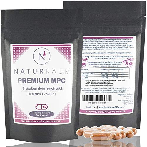 MPC Traubenkernextrakt - 35 mal bioverfügbarer als OPC - Premium Qualität aus Frankreich - 60 Kapseln - Hochdosiert ohne Zusatzstoffe, vegan
