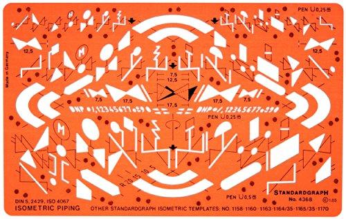 Isometric Rohrleitung Schema Isometrische Symbols Installation Schablone Zeichenschablone - Technisches Zeichnen
