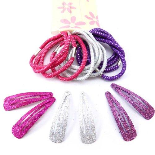Les Trésors De Lily [J5790] - Set coiffure 'Coloriage' rose violet (18 pièces)