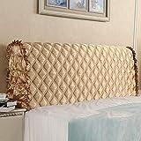 Dapang Hochwertiger Seiden-Kopfteil-Schlafzimmer-Staubschutz Schutzhülle Weicher Stoff Strukturierter Stick mit Vier