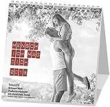 Mensch, ich mag dich 2019: Schwarz-Weiss-Postkarten-Kalender