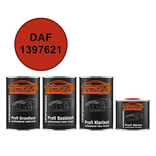 TRISTARcolor Autolack Set Dose spritzfertig DAF 1397621 Rood Grundlack + Basislack + 2K Klarlack 3,5L