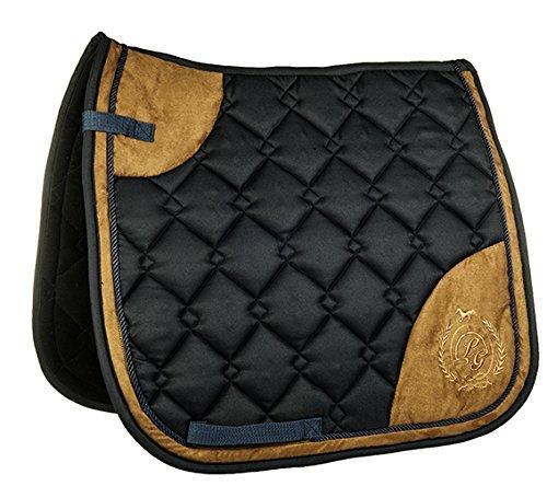 90d1065b0ca Bolso alforja Silla de caballo HKM Lauria Garrelli- color champán- azul  oscuro