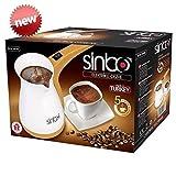 Sinbo SCM 2928 Greek Turkish Coffee Maker Machine Electric Pot Briki Ibrik 220V by Sinbo