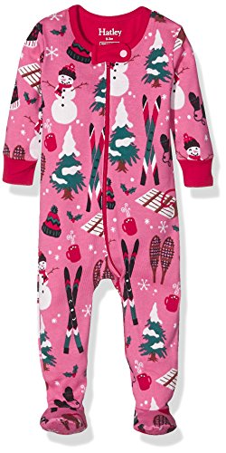 Hatley Footed Coverall-Girls Vintage Holiday Grenouillère, Rose, 0-9 Mois Bébé Fille