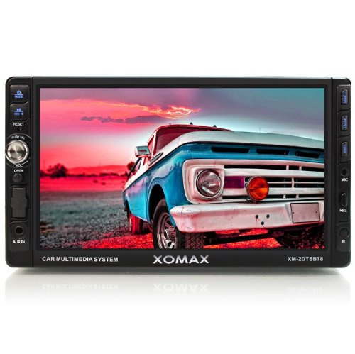 XOMAX XM-2DTSB78 Radio de coche / reproductor multimedia con 18 cm / 7 pulgadas Pantalla táctil / Touch screen + Bluetooth manos libres y reproducción de música a través