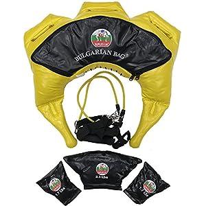 Suples Bulgarische Tasche – Strong Fit Modell (Gelb, XSmall, 11-17 lb, Synthetikleder) – The Original bulgarische Bag Creator – Crossfit, Sandsack, Trainingstasche, Gewichtstasche