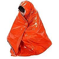 Lixada 210 * 130 cm Manta Multifuncional Térmica de Seguridad Supervivencia Salvavidas para Cámping Viajes y Senderismo Al Aire Libre Naranja