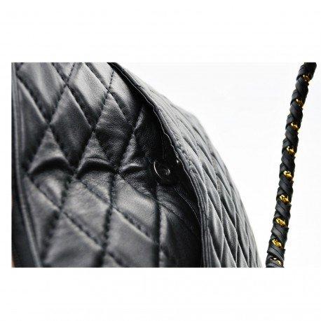 Charmoni-Borsa con tracolla da donna, in pelle, colore: nero, fabbricazione francese, Naja Nero