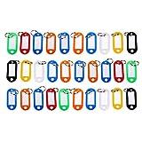 Schramm 30er Pack Schlüsselanhänger farbig Sortiert Schlüsselschild Schlüsselschilder zum Beschriften Schlüssel Schild Schilder Anhänger