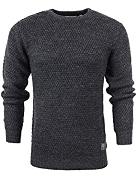 Brave Soul - Camisa casual - suéter - Básico - Cuello redondo - Manga Larga - para hombre