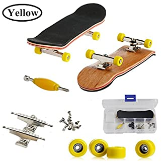 AumoToo Mini diapasón, Patineta de Dedos Profesional Maple Wood DIY Assembly Skate Boarding Toy Juegos de Deportes Kids