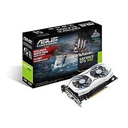 Asus Geforce GTX950 OC Edition GDDR5 PCI-E Graphics Card (2GB, GDDR5, 1253Mhz Engine Clock, Super Alloy II Edition)