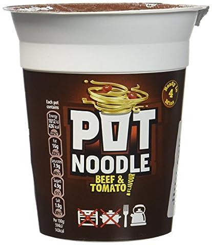 Pot Noodle Beef & Tomato 90 g - Lot de 2