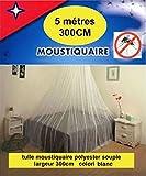 Moustiquaire Tulle Marquisette 5 Métres X 300cm GRANDE LARGEUR SOIT: 15 M2 , POUR PORTE RIDEAUX FENETRES