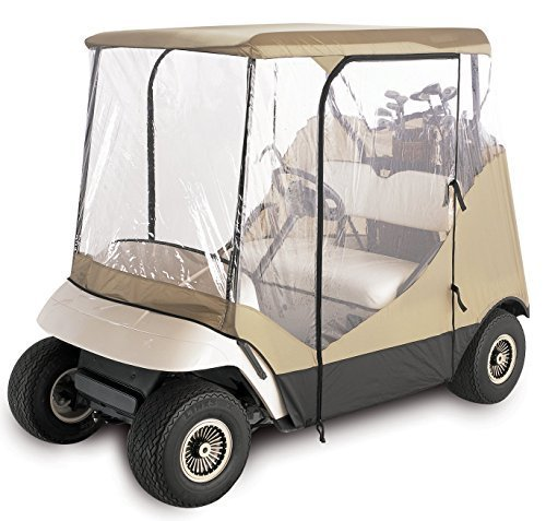 4-Seitig 2 Personen Golf Cart Cover Gehäuse, Tan 2 Beifahrer fahren Gehäuse New Golf Cart Cover Fit EZ Go, Club Car, Yamaha, indem Premium Products Corporation (Yamaha Golf Cart Gehäuse)