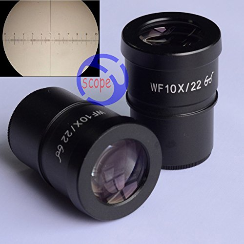 Traders FYSCOPE WF10X/22 Super Widefield 10X Microscope Eyepiece with cross reticle 30mm