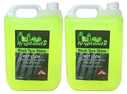 Reifen Glanz Oil Base Produkt schützt Reifen vor Alterung Showroom Wet Look–5L x 2