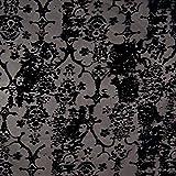 Pepelinchen Chiffon mit Samt-Aufdruck Blumen Grau