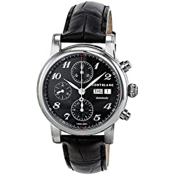 MONTBLANC STAR 106467 GENTS STAINLESS STEEL CASE AUTOMATIC CHRONOGRAPH WATCH