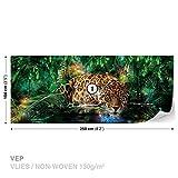 Leopard Magisch Fototapete Tapeten Fototapeten Wandbilder Fotomural (1333DK)
