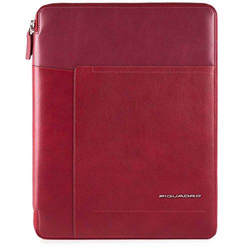 Piquadro Cary, Borsa Messenger Unisex-Adulto, 2.5 x 34 x 27 cm (W x H x L) Rosso