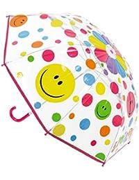 Childrens Smile Spot umbrella- pink