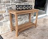 Grasekamp Teak Tisch 100x45x75cm Kaffeetisch Gartenmöbel Couchtisch Gartentisch