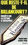 Que reste-t-il de Billancourt ? Enquête sur la culture d'entreprise par Labbé