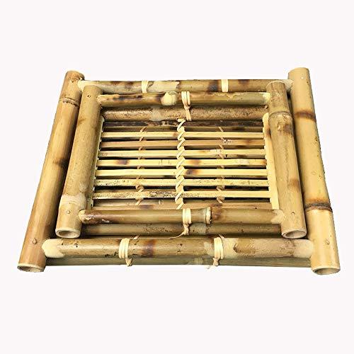 LI plaque- Vaisselle en bambou tressé Plat de spécialité de Cold Dish Plateau en forme de bol spécial Zen tableware (taille : M)
