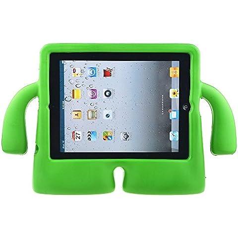 GenialES Protectora 3D Infantil Funda para iPad Tablet 2/3/4 Grueso EVA Espuma Ponerse de Pie con la Manija Antichoque para Niños