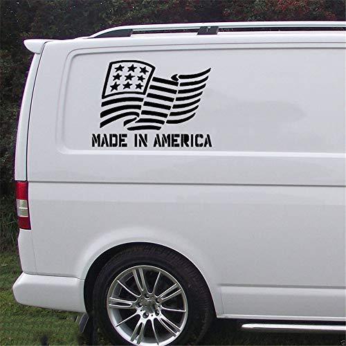 Wandaufkleber Kinderzimmer Made In American Flag Auto Aufkleber LKW Fenster Aufkleber Muskel 4X4 Kunst Malerei Auto Aufkleber Dekor Abziehbilder