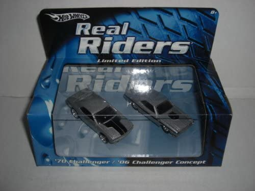 Hot Wheels Real Riders Limited and Edition Set--1970 Challenger and Limited 2006 Challenger Concept by REAL RIDERS ba9221