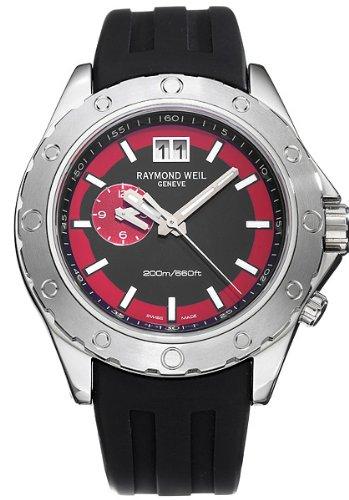 raymond-weil-8200-sr1-20041-montre-homme-quartz-analogique-cadran-rouge-bracelet-en-caoutchouc-noir